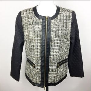 NEW Grace Elements Black Tweed Blazer Jacket